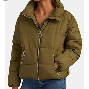 Barneys New York Quilted Crop Puffer Jacket